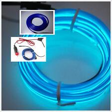 2M Car Atmosphere Ambient Lights Unique Decor BLUE Cold light lamp 12V EL Wire S