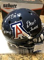 Lance Briggs Signed & Inscribed Full Size Schutt Arizona Helmet Beckett COA