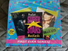 PRO  SET  SUPER  STARS  MUSIC  CARDS  ,  36  PKS.  IN  SEALED  BOX  SERIES  # 1