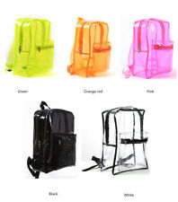 Large Clear Transparent Backpack Stadium Security PVC School Book Bag Travel New
