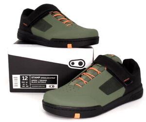 Crank Brothers Stamp SpeedLace+ Mountain Bike Flat Shoes Green, US 13/EU 47
