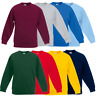 Fruit Of The Loom CHILDREN'S SET IN SWEAT SWEATSHIRT BOYS GIRLS COLOURS SIZES