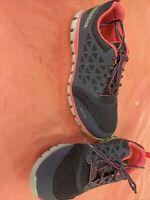Reebok Womens Sublite Cushion Work Shoe Blue/pink RB046 Workwear Low Top 9.5w