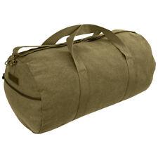Highlander Crieff Canvas Roll Bag Everyday Bag Travel Mens Foldable 45L Olive