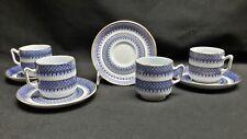 Spode Jefferson W39 Gold Trim - Set of 4 Demitasse Cups & Saucers