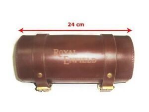 FOR Royal Enfield Genuine Brown Leather Tool Roll Bag