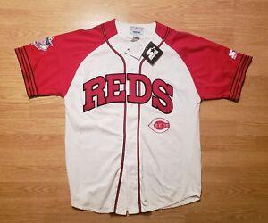 Cincinnati Reds Vintage 90s Starter Jersey Script Logo Hip Hop Men's Large Rare