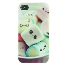 Cute Cartoon Marshmallow Pattern Matte Design PC Lovely Hard Case iPhone 4/4S