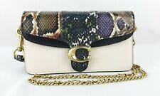 COACH Leather & Snakeskin Tabby Crossbody MRSP $275.00