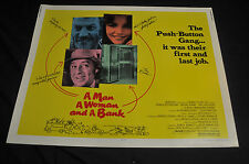 A Man a Woman and a Bank 22x28 Half 1/2 sheet movie poster - (1979) ITB WH