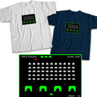 Space Invaders Retro Classic Arcade Game Fun Aliens Pixels Unisex Tee T-Shirt