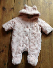 Babygirls snowsuit 0-3months from TU used