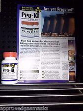Potassium Iodide / KI - ProKi for nuclear emergency / radiation survival 100 tab