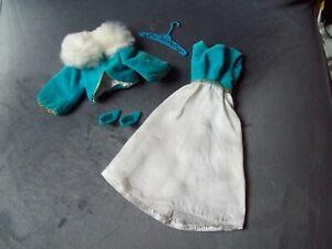 Vintage 1969 Barbie # 1879 Lets have a Ball Outfit Dress Jacket Shoes Hanger