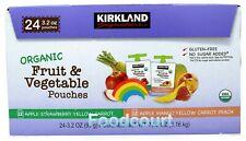 Kirkland Signature Organic Fruit & Veggie Pouch 24 ct 76.8 oz