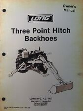 Long 1199-B 1198 Backhoe Owners Manual 3 Three Point Hitch Attachment Tractor
