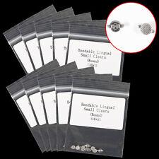 10 Bag/100pcs Dentale ortodontico linguale cleat two-wing mesh base bondable RJ