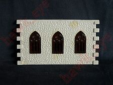 Plasticville Country Church Side Piece with Windows Piece O-S Scale HTF