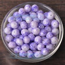 New 30pcs 10mm Rondelle Faceted Charms Loose Spacer Glass Beads Pale Purple