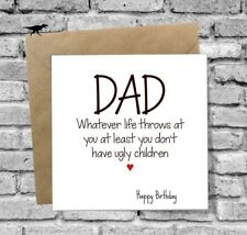 DINOSAURCARDS GREETINGS CARD BIRTHDAY DAD FUNNY HUMOUR LOVE JOKE NOVELTY DADDY