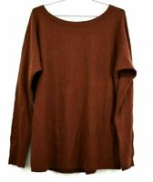 Vince Women's Medium Rust Lightweight Casual Everyday Wool Cashmere Sweater