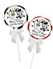 40 DISNEY MICKEY AND MINNIE WEDDING FAVORS STICKERS TAGS for seals lollipops etc