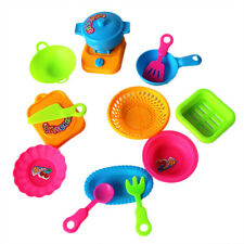15Pcs Kids Play House Plastic Toy Cooking Food Kitchen Pans Pots Dishes Toys New