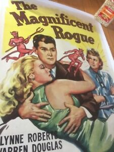 Movie Posters,1946 Original Vintage US 1 sheet Poster - The Magnificent Rouge