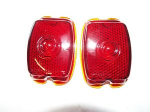 1940 1947 1948 1949 1950 1951 1952 1953 Chevy Truck  Pair glass tail light lens