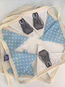 Baby Penguin Bunting Garland Nursery Bunting Penguin Decor Penguin Gift Idea