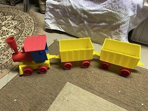 DDR Kinderspielzeug Plaste Eisenbahn Sandkasten