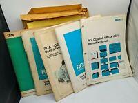 Huge Lot Rare Early Computer Manuals RCA 1800 Microprocessors VIP IBM vtg 70s
