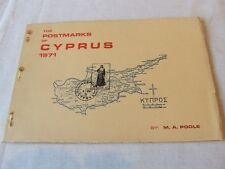 The Postmarks Of Cyprus 1971, by M Poole, Good Condition