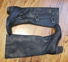 The Shoe Box NYC Tall Green Leather Pull 9n Boots Size 8