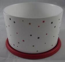 Tupperware Bingo Dose 1,4 l Sterne One Touch Kaffeedose Weiß / Rot Neu OVP