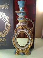 Vintage Mirrored & Gilded Jim Beam Decanter with original  Box 1969 gold leafed