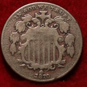 1870 Philadelphia Mint Shield Nickel