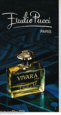 PUBLICITE ADVERTISING 055  1975  EMILIO  PUCCI  parfum VIVARA             130515