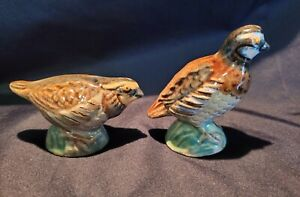 Vintage Rosemeade Bobwhite Quail Salt and Pepper Shakers, Displayed not Used.