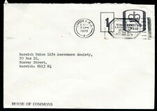 1979 Wimbleden Lawn Tennis Museum Slogan pm on House of Commons Cover