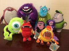 Disney Pixar Monsters Inc University Jox Plush SOUND Lot of 9 some New