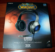 Creative Sound Blaster World of Warcraft USB Wired Headset Headphone Recertified