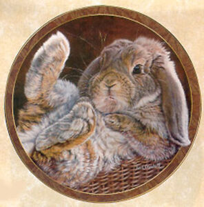 Bunny Tales Collection, by Vivi Crandall, Bradford Exchange Plate, Footloose