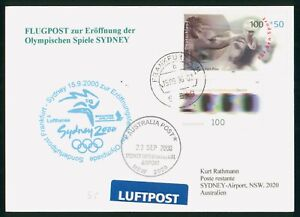 MayfairStamps 2000 Germany Cover Frankfurt to Sydney Airport Olympic Flight wwp6