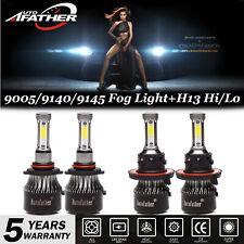 For 2004-2014 Ford F-150 H13 Combo LED Headlight+9145 9140 Fog Lights Kit 4200W