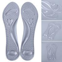 1Pair Women Silicone Shoe High Heel Inserts Insoles Gel Pads Cushion' Shoe QA