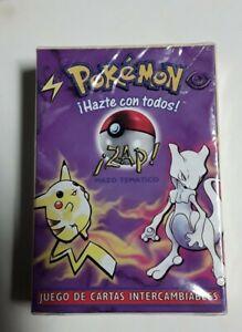 "Pokemon Zap  ""Spanish"" Theme Deck Base Set Vintage Mewtwo & Pikachu Sealed Cards"