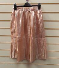 Glamorous Skirt Peach Size -S Metallic Pleat Detail  G036