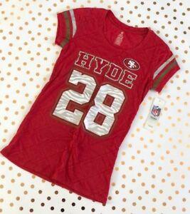 Women's NFL San Francisco 49er's #28 HYDE Tee - Size S