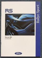 FORD ESCORT RS COSWORTH UK Market Car Sales Brochure June 1992 #FA1067
